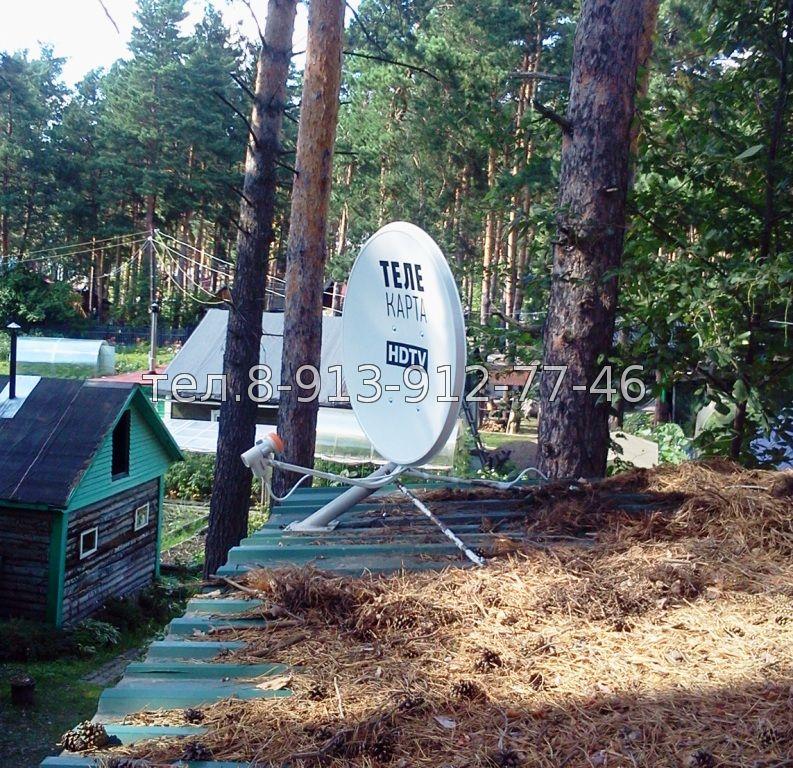 Установка спутниковых антенн на Заимке Седова